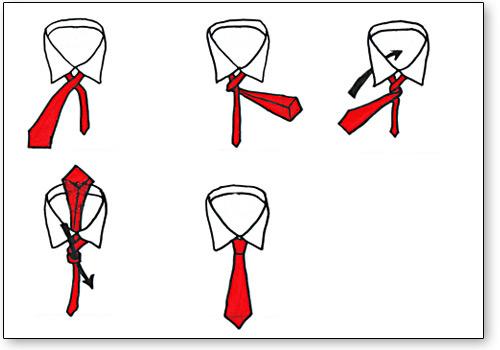der einfache der four in hand krawattenknoten auf krawatten. Black Bedroom Furniture Sets. Home Design Ideas